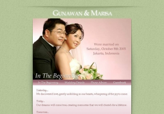 Gunawan and Marisa | Wedding Website (Flash player required)